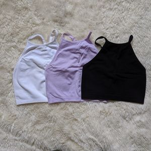 Crop athletic tanks (set of 3)